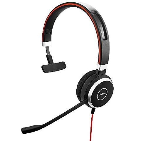 Jabra Evolve 40 UC MONO Kits Oreillette Connecteur(s):Jack 3,5 mm