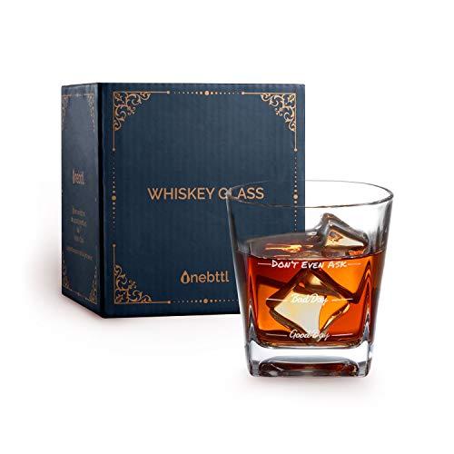 Bicchieri Whisky, Bicchieri Rum, regalo per bere bourbon, cocktail, scotch, vodka, gin, cognac, Bicchiere Buona Giornata Cattiva Giornata