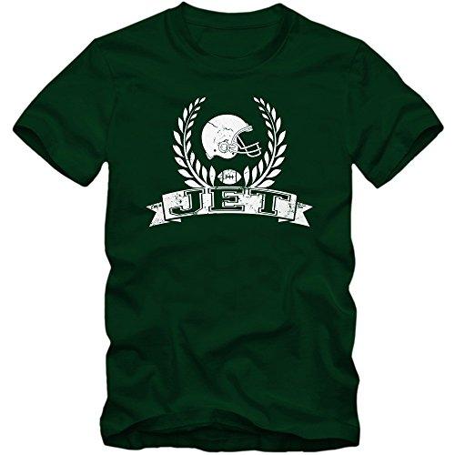 I'm a Jet #6 T-Shirt   Football   Herren   Super Bowl   Play Offs   USA, Farbe:Dunkelgrün (Bottle Green L190);Größe:L