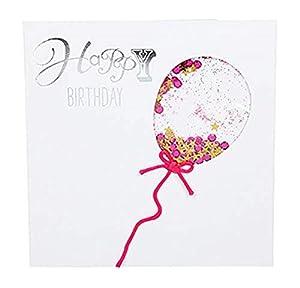 Depesche 8211.019Tarjeta de felicitación Glamour con Ornamento y Purpurina, cumpleaños