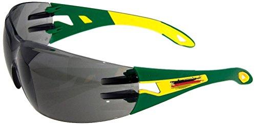 Uvex Pheos Arbeitsschutzbrille und Freizeitbrille Soccer Edition inklusive Stoff-Etui, grün,...