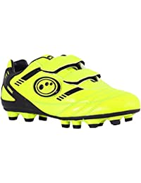 Optimum Tribal Velcro Moulded FG Kids Football Boot Fluo Yellow
