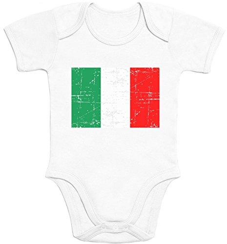 Italien Italia Flagge WM 2018 Olympiade Fanartikel Baby Body Kurzarm-Body Newborn Weiß (Wm Italien Italia)