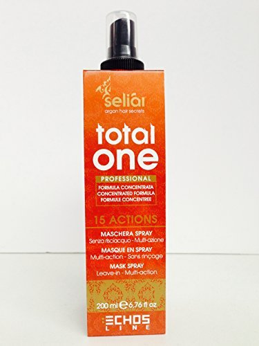 Echos line Seliar Argan Total One Leave in Mask Spray 200ml/6.76oz Free Starry Sexy Kiss Lip...