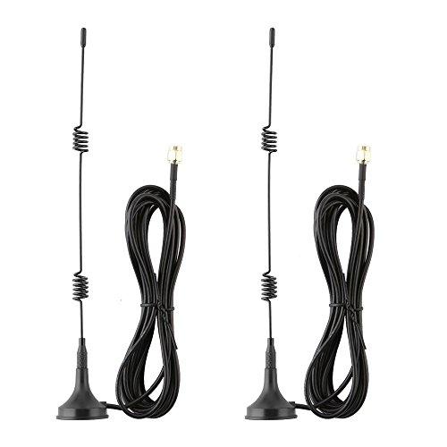 Tonton 2 Pack 10FT/3M 7dBi WiFi Verlängerungskabel Antennen für Wireless IP Überwachungskamera Verlängerungskabel mit Magnet Standfuß für IP Kamera Funk Kamera Wireless Überwachungskamera - Wifi-antenne