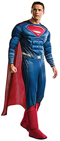 Rubies Justice League Mens Deluxe Muscle Chest Superman Costume XL