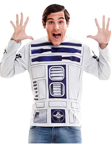 viving Kostüme viving costumes231024R2D2Herren Lange Ärmel T-Shirt (Klein)