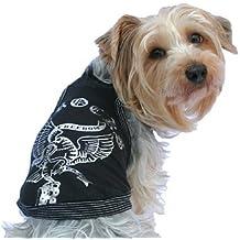 Pijama para perro, ropa de lujo para cachorro, camisa para invierno, ideal como regalo de Navidad, de color negro, tamaño XS