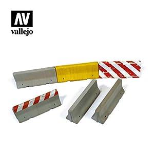 Vallejo SC214 1/35 - Barreras de hormigón (4 Unidades, Diferentes Modelos)