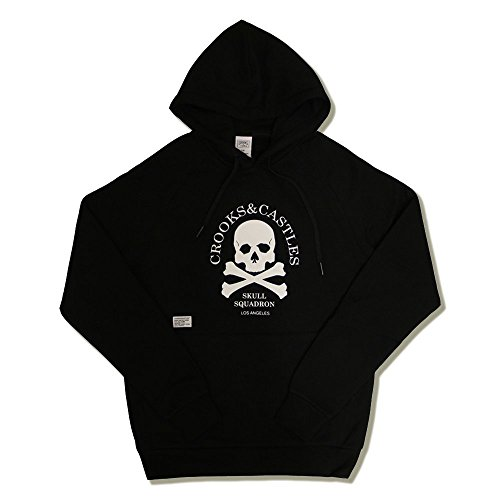 Crooks & Castles Skull Squadron Pullover Hoodie Black Black