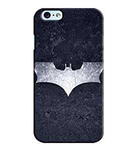 Blue Throat Bat Man Logo In Grey Printed Back Cover For Apple iPhone 6s Plus