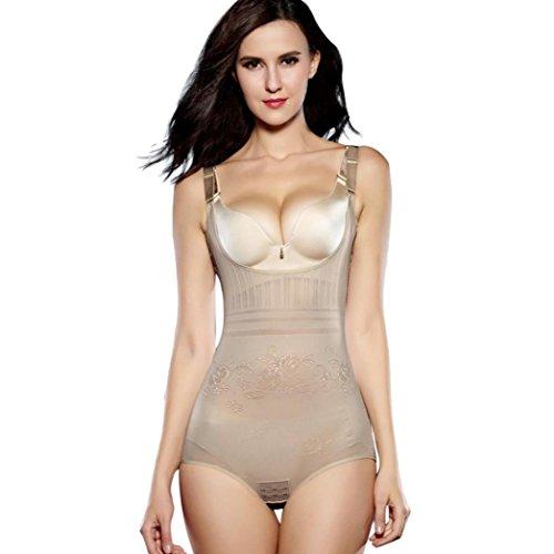 SANFASHION Damen Korsagen Bauch Abnehmen Kontrolle Underbust Shapewear Bodysuit Unterwäsche
