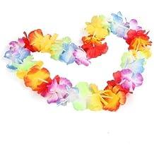Collar de flores Hawaiana 10pcs accesorio de disfraz para Fiesta Disfraces
