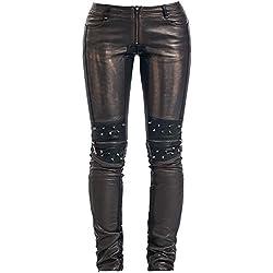 Punk Rave K-145 Pantalones Mujer marrón/negro