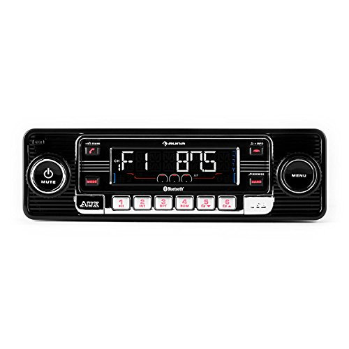 Auna RMD-Sender-One • Autoradio • Radio AM/FM • Lecteur CD • Compatible MP3 • Interface Bluetooth • Ports SD et USB • Entrée AUX • Façade Amovible • Capacité Carte mémoire: Max. 16 Go • Noir