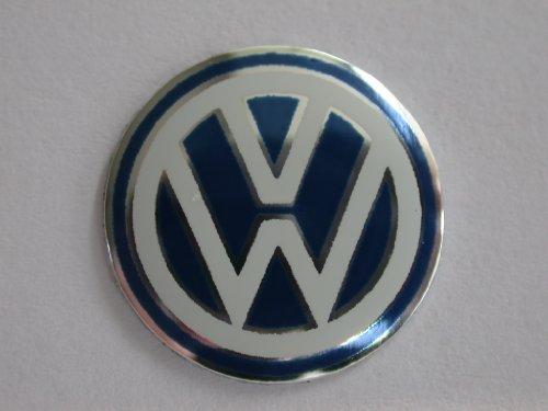1 x blaues VW-Firmenlogo für den Autoschlüssel, zum Auswechseln, Größe 15 mm, für Golf, Passar, Polo, Lupo