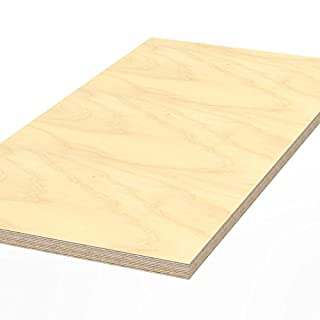 AUPROTEC Plywood board 1500 x 800 x 30 mm worktop glued hardwood multiplex ground and oil-impregnated high-grade multi layer ply wood sheets for workbench work / packing table counter top