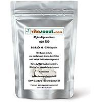 270 Kapseln Alpha Liponsäure ALA á 250mg Antioxidantien - Anti Aging - Fettverbrennung - mehr als 250 Kapseln oder Tabletten