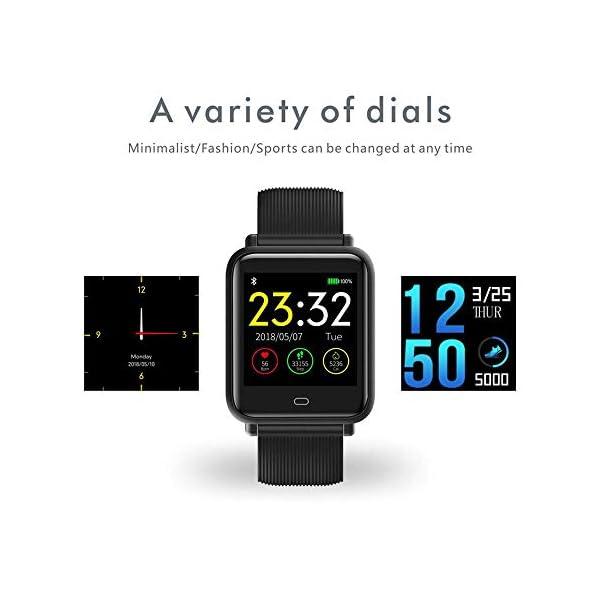 Monitor de frecuencia cardíaca TEEPAO, reloj inteligente a prueba de agua con monitor de presión arterial, contador de… 6