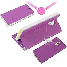 Prevoa MEIZU M1 NOTE Funda - Flip Funda Cover Case para MEIZU M1 NOTE 5.5 Pulgadas Smartphone - PURPURA