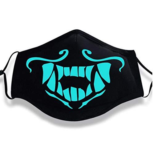 ner Frauen Kühlen Luminous Baumwollmischung Anti Staub Gesicht Mund-Maske Halloween Carnaval Party Supplies ()