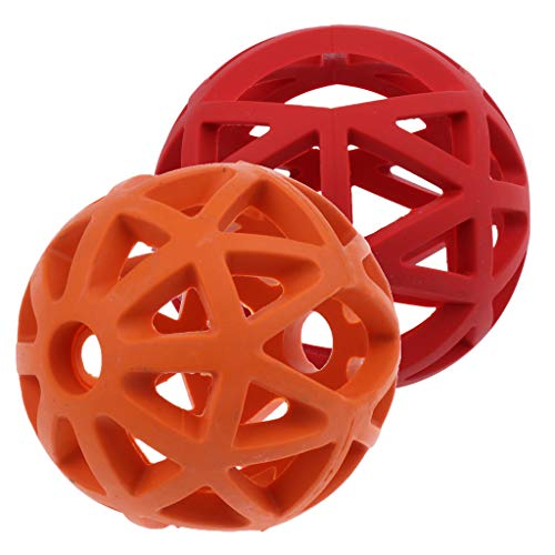 Homyl 2 Stück Gitterball Hundespielzeug Gummiball Robu… | 00749725438186