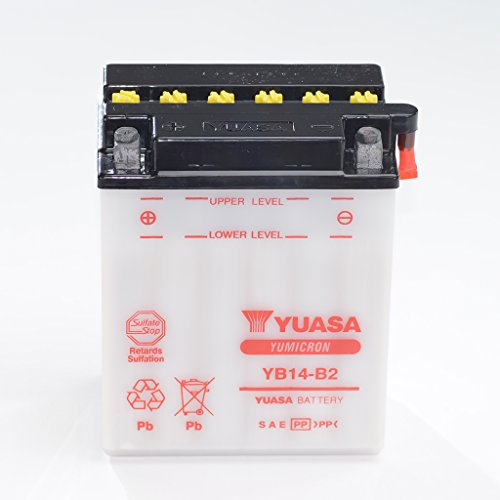 Yuasa, batteria 51414 al piombo acido, da 12V, 14AH, YB 14-B2,senza acido, adatta per Honda VFR 750F RC24,Polaris Hawkeye 4x 4