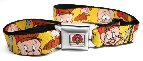 bd-looney-toons-seatbelt-belt-elmer-fudd-expressions-yellow