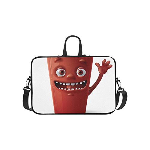 Niedliche Cartoon Tasse Tee Getränk Muster Aktentasche Laptoptasche Messenger Schulter Arbeitstasche Crossbody Handtasche Für Geschäftsreisen -