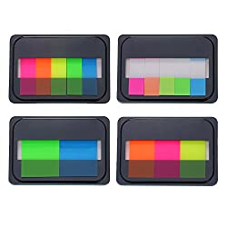 16 Pieces Assorted Color Index Tabs Flags Sticky Tabs Notes For Page Marker, 4 Styles