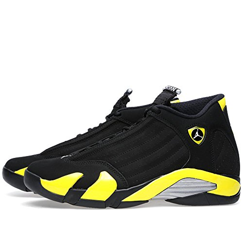 Nike Air Jordan 14 Retro, Chaussures de Sport Homme black/vibrant yellow-white