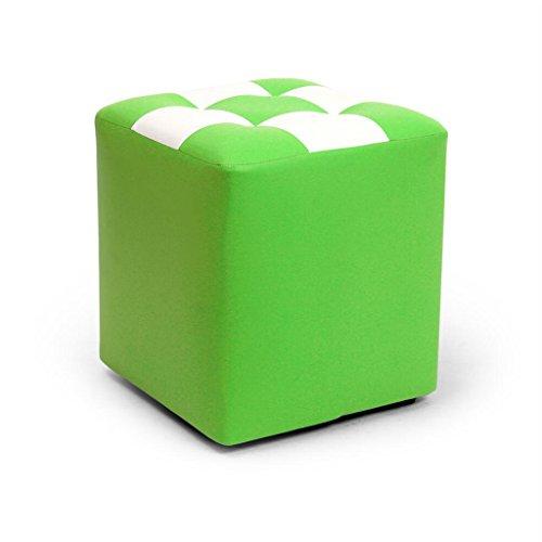 Tabouret de canapé Xuan - Worth Having Tabouret de Tabouret Carré Vert Blanc Tabouret de Maquillage en Cuir pour Enfant Tabouret Imperméable (30 * 30 * 35cm)