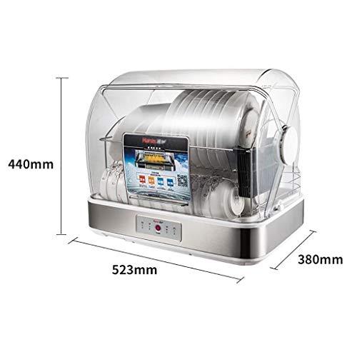 MXRqndqa Wärmegeräte 80 Grad Hochtemperatur-Desinfektionsschrank mit 45 Liter Fassungsvermögen, vertikaler Mini-Desinfektionsschrank aus Edelstahl (Farbe : 40 liters)