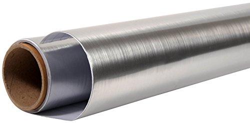 Nordlinger Pro 600015 REVETEMENT ADHESIF DE DECORATION ET RENOVATION PLACFLEX ALUMINIUM BROSSE 0.90M X 2.15ML, INOX