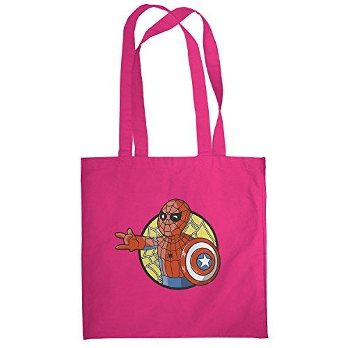 Texlab–Spider Boy–sacchetto di stoffa Pink