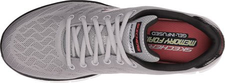 Skechers Synergy Fine Tune, Chaussures Multisport Outdoor homme Light Gray/Blk