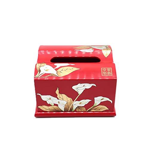 Cookware to take home Chinesische Traditionelle Handarbeiten Pingyao Klassischen Push-Lackware Kleine Rote Tissue Box