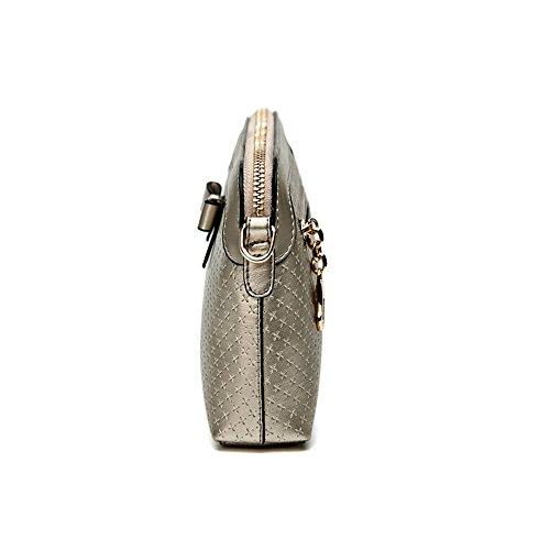 Frauen Handtasche - Echtes Leder-Frauen Handtaschen Schulter Beutel Oberseiten Handgriff Tote Dame Mädchen Spielraum Beutel Gold