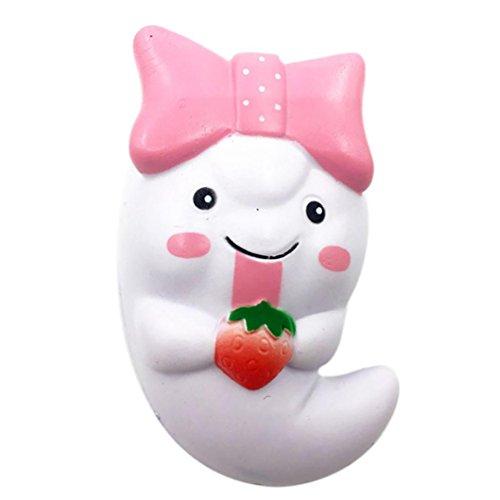 Für Cute Halloween Paare (Omiky® 12cm Squishy Cute Ghost Squeeze Langsam steigende Spaß Spielzeug Halloween Geschenk Telefon Strap)