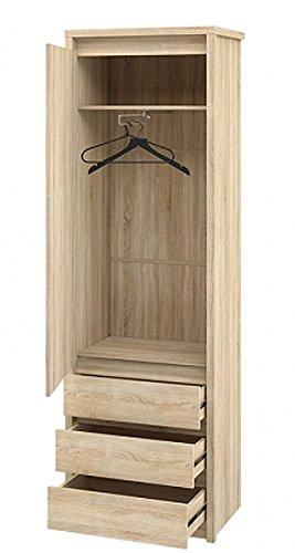 Wohnwand Anbauwand mit Wäscheschrank 67cm 65132 sonoma eiche - 3