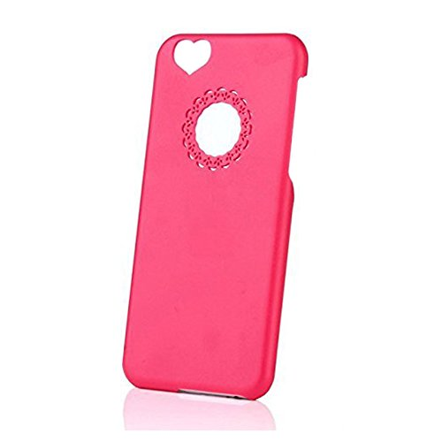 iPhone 6 Plus Case - TOOGOO(R) Herz Rueck Design hart Huelle Tasche Case Cover Bumper fuer 5,5 Zoll Apple iPhone 6 Plus (Weinrot) Pink