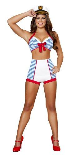 Erwachsene Verspielte Pinup Sailor Sexy Kostüm, - Pin Up Kostüm Sailor