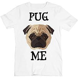 Pug Me Hug Me Cute Little Pug la Camiseta de los Hombres XX-Large