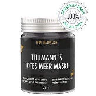 Totes Meer Maske Schlamm Gesichtsmaske   Premium Peel off Peeling   100% Natürlich Organic Premiumqualität   Pflege für trockene und unreine Haut   Reinigung bei Pickel – Mitesser – Akne   Anti-Aging Maske   250 g Totes Meer Maske von Tillmann's Deutschland®