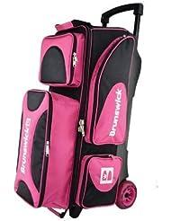Brunswick Flash X Triple Roller Bag (Pink) by Brunswick