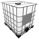 1000l IBC Container (Neue Tankblase) auf Stahl/PE-Palette REBOTTLED Deckelgröße DN 225, Armaturgröße S60x6 Grobgewinde
