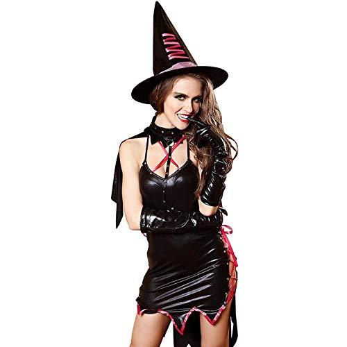 Kostüm Anzug Teufel Schwarzer - xbowo-Appeal Erotische Dessous Cosplay Spiel Uniform Rollenspiel Kostüm Teufel Anzug Hexe@Schwarz_M