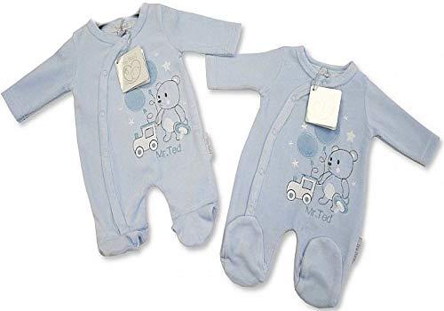 Baby Frühchen Newborn Stramplerset Babyanzug Jungen Teddybär Doppelpack Zwillingsset Zwillinge Geburt Taufe Erstlingsfotos zwillinge geschenk Baby Newborn