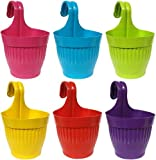 """Go Hooked Round Plastic Lily Hook Pot with Lock 6"""" for Home, Garden/Beautiful Hanging Flower Pots & Planter/Balcony…"""