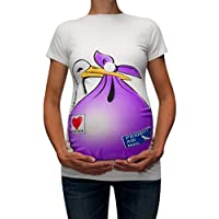 Heligen Fashion Maternity Tops Cute Funny Pattern Print Short Sleeve Casual T-shirt Pregnant T-Shirts Print T-Shirt Top Tee T Shirt Girl Funny Cute Pregnancy